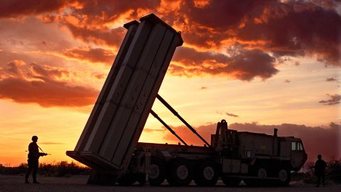 """A file image of the """"THAAD"""" anti-missile defense rocket."""