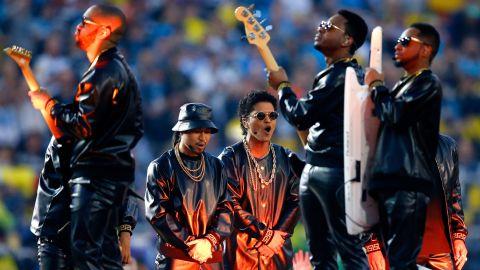Bruno Mars performs.