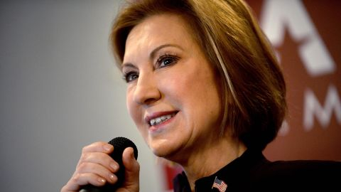 """MANCHESTER, NH - FEBRUARY 8: Republican Presidential candidate Carly Fiorina holds """"Coffee With Carly"""" at Blake's Restaurant February 8, 2016 in Manchester, New Hampshire. (Photo by Darren McCollester/Getty Images)"""