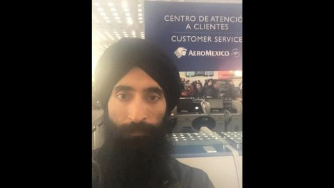 """Waris Ahluwalia, an Indian-American actor and jewelry designer, took this selfie after he got stuck in Mexico City's airport on Monday, February 8. Ahluwalia said Aeromexico staff and security screeners told him to buy a ticket on a different airline after he refused to remove the turban he wears as part of his faith. """"Dear NYC fashion week, I may be a little late as @aeromexico won't let me fly with a turban,"""" <a href=""""https://www.instagram.com/p/BBiLpK2gTDv/"""" target=""""_blank"""" target=""""_blank"""">he said on Instagram.</a> """"Don't start the show without me."""" Aeromexico <a href=""""http://www.cnn.com/2016/02/08/travel/aeromexico-sikh-turban-waris-ahluwalia/index.html"""" target=""""_blank"""">offered an apology,</a> saying it """"recognizes and is proud of the diversity of its passengers."""""""