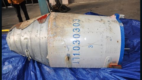 """On February 9, 2016 South Korea's Defense Ministry releases images of debris believed to be a part of North Korean rocket, <a href=""""http://www.cnn.com/2016/02/09/asia/north-korea-rocket-launch/index.html"""">which was launched on February 7. </a>Pyongyang said it had successfully launched Earth observation satellite Kwangmyongsong-4 into orbit."""