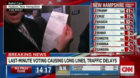 Traffic jams voter queues sot todd erin _00012721.jpg