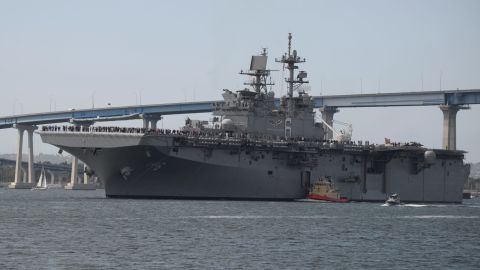 One America-class amphibious assault ship is included in the Navy's 2017 budget. Amphibious assault ships can deploy aircraft, including the new F-35 fighter jets.