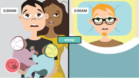 Singledom can equal a better night's sleep as lots of folks report sleeping better alone. The CDC says one-third of adults don't get enough sleep anyway, regardless of their relationship status, but single moms get even less.