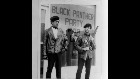 **FILE**Black Panther national chairman Bobby Seale, left, wearing a Colt .45, and Huey Newton, right, defense minister with a bandoleer and shotgun are shown in Oakland, Calif., in this undated file photo. The Black Panther Party officially existed for just 16 years. Seale never expected to see the 40th anniversary of the Black Panther Party he co-founded with Huey Newton.  But its reach has endured far longer, something Seale and other party members will commemorate when they reunite in Oakland this weekend. (AP Photo/San Francisco Examiner)