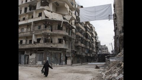 A street that is monitored by regime snipers.