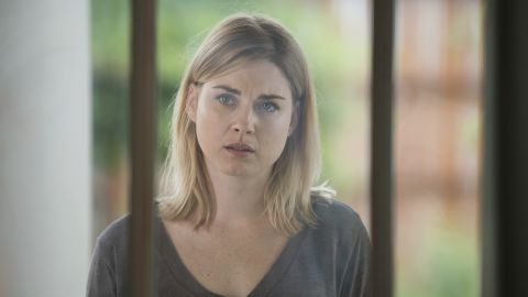Jessie (played by Alexandra Breckenridge) was starting to get close to Rick when all hell broke loose in the community of Alexandria. As Rick leads Jessie and her sons, camouflaged in zombie guts, through a throng of walkers, her son Sam freaks out. He blows their cover and draws the walkers' attention. They start feasting on Sam before moving on to Jessie as she cries out for her son. Michonne finishes off the family by killing Jessie's other son, Ron, as he takes aim with a gun at Rick and Carl.
