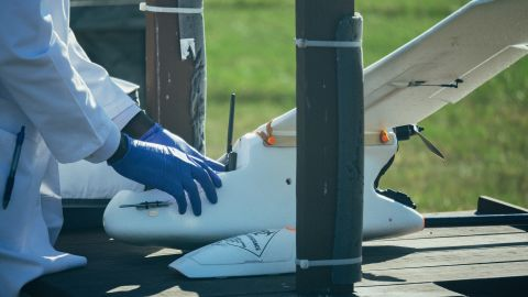 Scientists are trialing drones to transport blood samples quickly and cheaply, through the air, to enable faster diagnoses and testing of patients in the field.