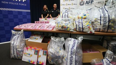 The haul is one of the biggest in Australia's history.