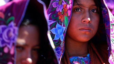 Indigenous women attend Mass in San Cristobal de las Casas.