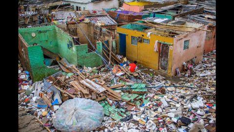 Some of the hardest hit places were the slum areas like Saidapet