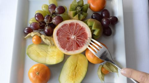 A fruit plate is seen at the Buchinger-Wilhelmi Clinic in Ueberlingen, southern Germany, on March 24, 2014. High-end clinics specialising in deprivation rather than pampering are all the rage in Germany, one of the homes of the fasting movement, and in some cases it is even covered by health insurance plans. AFP PHOTO/CHRISTOF STACHE        (Photo credit should read CHRISTOF STACHE/AFP/Getty Images)