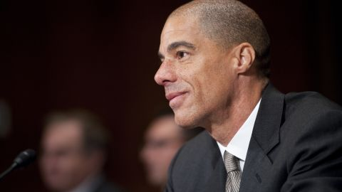Paul Watford, nominee to be U.S. circuit judge for the Ninth Circuit, is sworn in before testifying at his confirmation hearing in the Senate Judiciary Committee on Tuesday, Dec. 13, 2011.