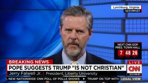 Falwell Jr.: Pope using Christianity as criteria for President _00020427.jpg