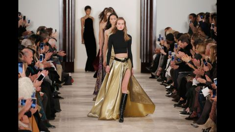 Models walk the runway wearing Ralph Lauren's fall 2016 line during New York Fashion Week. Here are scenes from the nine-day event in New York City, which showcases upcoming fashions from the world's leading designers.