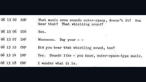 The Apollo 10 crew discuss strange noises heard on the far side of the moon