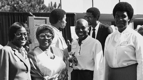 Butler, right, with Betty Myles, left, Artie Bates and Lady Tyger Trimiar at A Salute to Black Role Models of the Greater Los Angeles Community at West Los Angeles Community College in 1981. The city inspired the sprawling urban settings of Butler's novels.