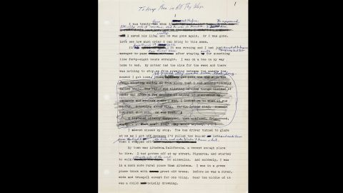 """With the publication of """"Kindred"""" in 1979, Butler was able to support herself writing full-time. The book was initially titled """"To Keep Thee in All Thy Ways,"""" from Psalms 91:11. A draft is stored in her archive at the Huntington."""