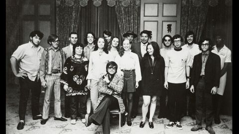 Butler received an associate of arts degree in 1968 from Pasadena Community College. During 1969 and 1970, she studied at the Screenwriter's Guild Open Door Program and the Clarion Science Fiction Writers' Workshop, where this photo was taken in 1970. Butler is at right in the back row.