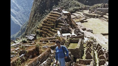 A diligent researcher, Butler visited the Peruvian Amazon (and Machu Picchu, seen here) to study insects and plant life for a series about alien abduction and seduction.