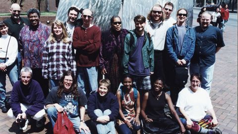 Butler (standing, third from left) with her students at the Clarion West writers workshop in 1999. She was a student at the original Clarion Writers Workshop in Pennsylvania in 1970. A memorial scholarship in her honor now enables writers of color to attend Clarion workshops.