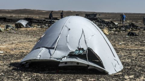 """Metrojet Flight 9268 <a href=""""http://www.cnn.com/2015/11/02/africa/russian-plane-crash-egypt-sinai/index.html"""" target=""""_blank"""">crashed in Egypt's Sinai Peninsula </a>after breaking apart in midair in October 2015. All 224 people on board the plane were killed. The plane was en route to St. Petersburg, Russia, from the Red Sea resort of Sharm el-Sheikh."""