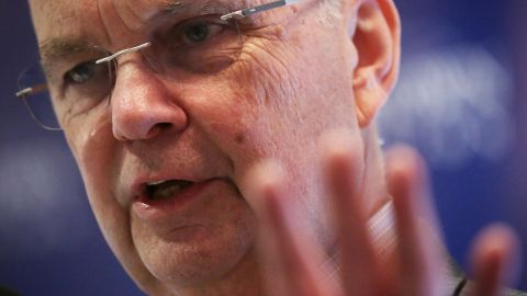 Former CIA Director Michael Hayden delivers closing remarks during the Jamestown Foundation's annual terrorism conference December 8, 2015 in Washington, DC.