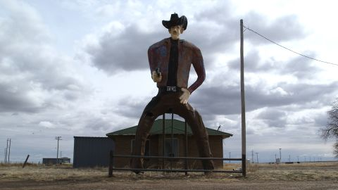 """""""Tex,"""" a hulking cowboy on the outskirts of Stratford, Texas, in the panhandle."""