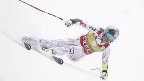 Vonn crashed towards the end of her run. She looked like she was about to register the fastest time of the day when she crashed.