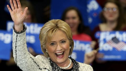 COLUMBIA, SC - FEBRUARY 27:  Democratic presidential candidate, former Secretary of State Hillary Clinton thanks supporters after delivering a victory speech at an event on February 27, 2016 in Columbia, South Carolina. Clinton defeated rival Democratic presidential candidate Sen. Bernie Sanders (D-VT) in the Democratic South Carolina primary. (Photo by Win McNamee/Getty Images)