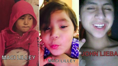 """4-year-old Macey Lilley was abducted on Friday night, according to police. Authorities say John """"Billy"""" Lieba, right, is a suspect."""