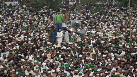 Supporters of Qadri gather in Rawalpindi on March 1, 2016.