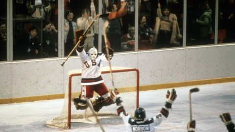"""<strong>'Miracle on Ice':</strong> On February 22, 1980, a U.S. hockey team made up of <a href=""""http://espn.go.com/classic/s/miracle_ice_1980.html"""" target=""""_blank"""" target=""""_blank"""">college players and amateurs</a> defeated the perennially favored Soviet Union in the semifinals of the Winter Olympics. Sports Illustrated recognized it as the <a href=""""http://olympics.usahockey.com/page/show/1093459-1980-olympic-winter-games"""" target=""""_blank"""" target=""""_blank"""">No. 1 sports moment</a> of the 20th century. The Americans went on to win the gold in front of a home crowd in Lake Placid, New York."""