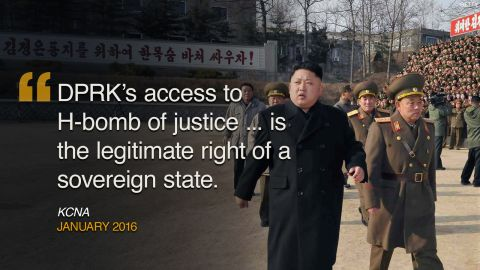 """<strong>January 2016: </strong>North Korea claimed to have successfully tested a thermonuclear weapon, justifying its right to have an H-bomb on the grounds of """"self defense."""""""
