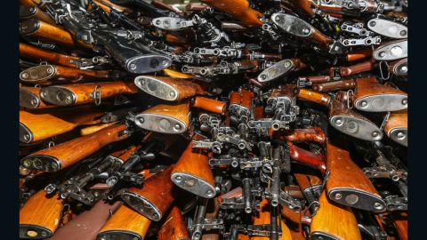 Weapons seized by the HMAS Darwin off the coast of Oman