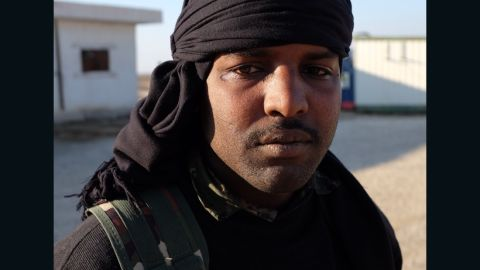 A fighter from the Syrian Democratic Forces alliance, a combination of Kurdish and Arab fighters. The alliance has pushed ISIS out of large areas in northern Syria.