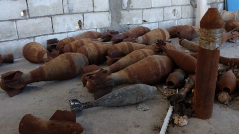 Oil is not the only product of al Hawl. Here a bomb factory lies abandoned after ISIS fighters fled the town.