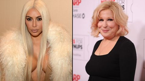 """Reality star Kim Kardashian didn't take too kindly to Bette Midler criticizing her for posting a nude selfie in March 2016. Midler tweeted, """"If Kim wants us to see a part of her we've never seen, she's gonna have to swallow the camera,"""" and Kardashian responded by accusing the actress of trying to be a """"fake friend."""""""