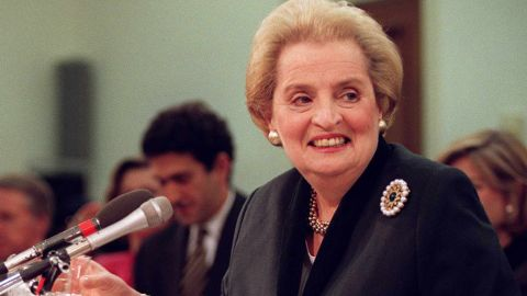 Madeleine Albright was the first woman to serve as U.S. secretary of state. She was appointed to the position by President Bill Clinton in 1997.