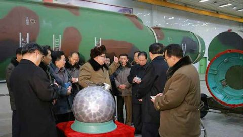 """In March, 2016, state media says Pyongyang has <a href=""""http://www.cnn.com/2015/05/20/asia/north-korea-nuclear-weapons/"""">miniaturized nuclear warheads.</a>"""