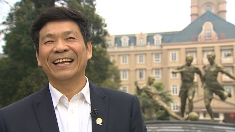 Principal Liu Jiangnan thinks China's soccer status will spike in the next five years.