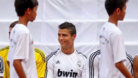 A link-up with Real Madrid means that more than 20 Spanish coaches work at the school. Real visited in 2011, when star player Cristiano Ronaldo met pupils in Qingyuan.