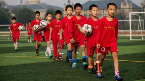 The Evergrande International Football School is the largest largest football academy in the world.
