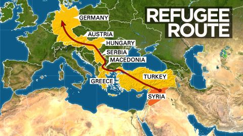 Thousands of refugees have followed a similar path into the heart of Europe.