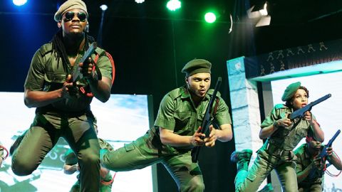 """Austen-Peters says that 10,000 people watched """"Wakaa!"""" over the course of 12 performances around the new year. It was so popular people were offering to pay to stand in the aisles. """"We can rival any of the big institutions in the world,"""" the producer argues, and hopes Nigeria's burgeoning musical industry will go on to even bigger things."""