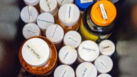 Fairchild takes 26 medications each day.