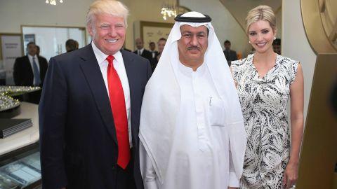 Donald Trump, Hussain Sajwani and Ivanka Trump  in 2014.