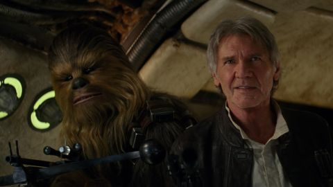 """Harrison Ford reprised his role as Han Solo in 2015's blockbuster """"Star Wars: Episode VII - The Force Awakens."""""""