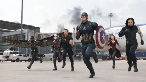 """""""Captain America: Civil War""""<a href=""""http://money.cnn.com/2016/03/10/media/captain-america-trailer-spider-man/""""> lit up the Internet with its trailer</a> and is expected to fill theaters when the entire 147-minute opus slams into theaters. Chris Evans is Cap and Robert Downey Jr. is Iron Man, and when the two meet, it's a lot of broken asphalt. The film opens May 6."""
