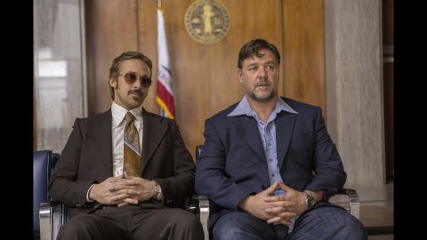 """Brooding Russell Crowe. Intense Ryan Gosling. In a comedy? Yep, they're playing """"The Nice Guys,"""" in which a private detective and his roughneck colleague try to solve a case in 1977 Los Angeles. Given that it's directed and co-written by Shane Black, it'll be pretty dark, too. It opens May 20."""